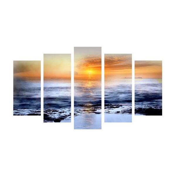 5-częściowy obraz Distance, 60x100 cm