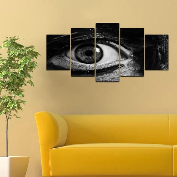 Wieloczęściowy obraz Black&White no. 32, 100x50 cm