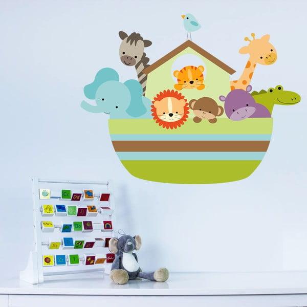 Naklejka dekoracyjna na ścianę Arka i zwierzęta