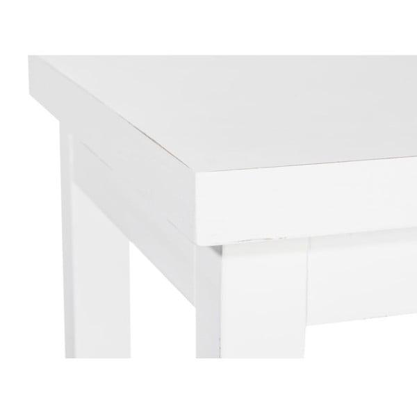 Stołek Bar White, 36x36x79 cm