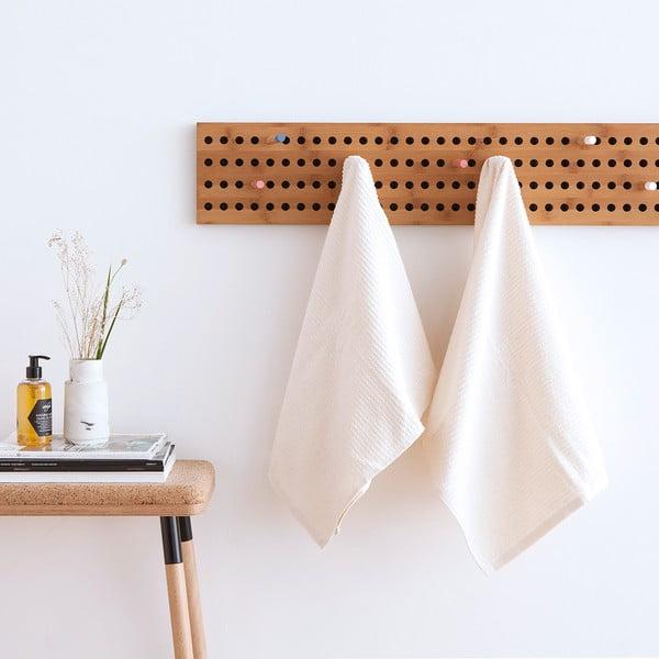 Komplet 2 białych ręczników frote Casa Di Bassi Stripe, 50x100 cm