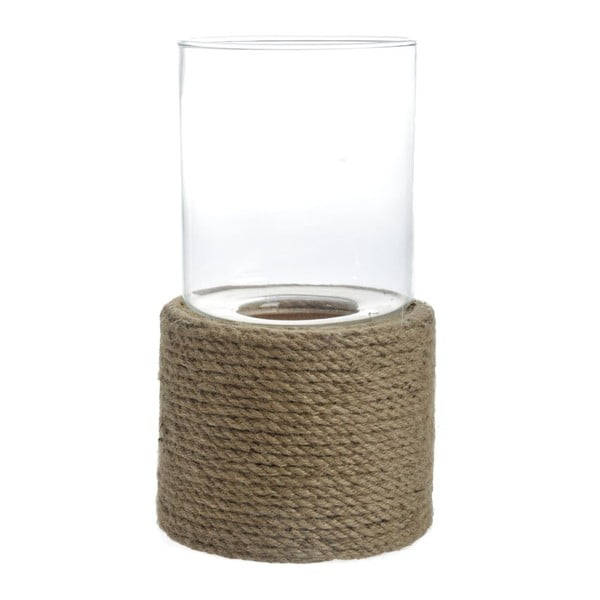 Świecznik Rope Glass, 21x21x40 cm