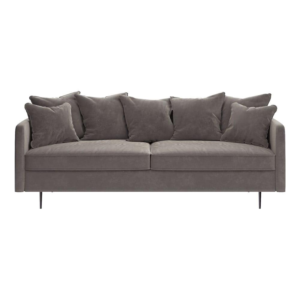 Beżowa aksamitna sofa Ghado Esme, 214 cm