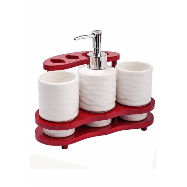 Porcelanowy zestaw naczyń na mydło Bamboo Soap