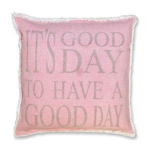 Poduszka Good Day 45x45 cm, różowa
