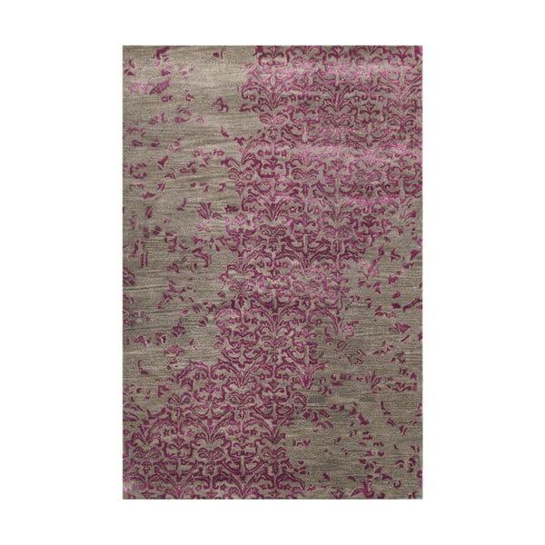 Fioletowy dywan tuftowany ręcznie New Jersey, 153x244cm