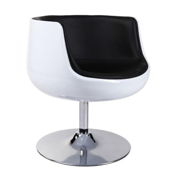 Krzesło obrotowe Cognac, białe/czarne