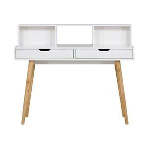 Białe biurko drewniane SOB York