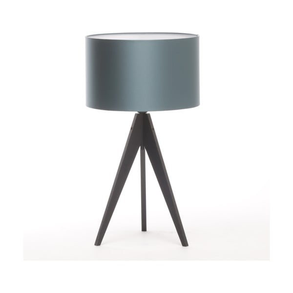 Lampa stołowa Artista Black/Ice Blue, 65 cm
