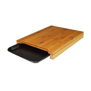 Deska do krojenia z bambusu z tacką JOCCA