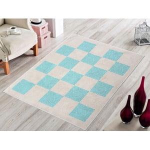 Niebieski wytrzymały dywan Patchwork, 60x90 cm