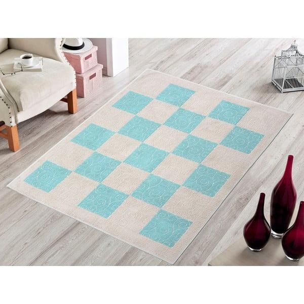 Niebieski wytrzymały dywan Patchwork, 120x180 cm