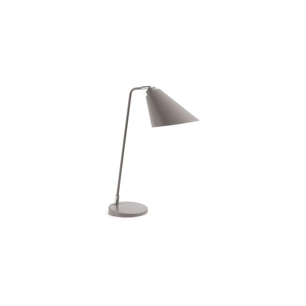 Szara lampa stołowa La Forma Priti