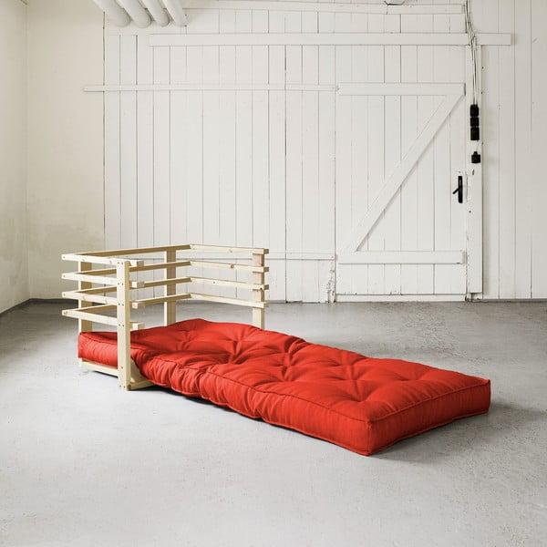 Fotel rozkładany Karup Funk Natural/Red