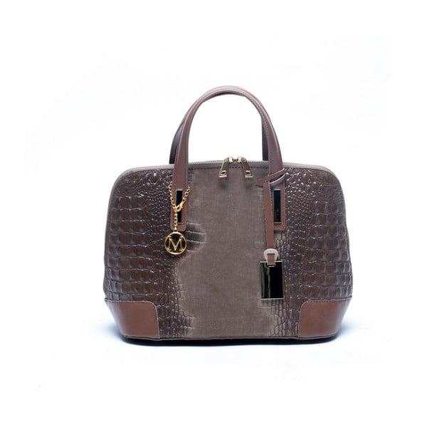 Skórzana torebka Mangotti 846 Fango