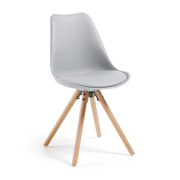 Szare krzesło La Forma Lars