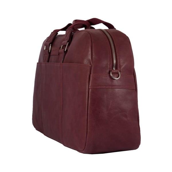 Męska torba podróżna Vintage Overnight Bordeaux