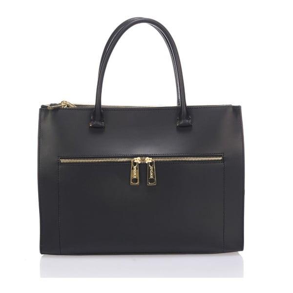 Skórzana torebka Krole Kate, czarna