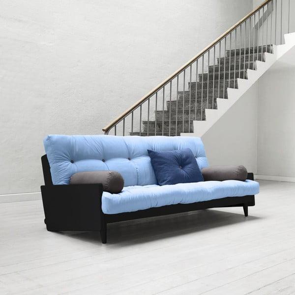 Sofa rozkładana Karup Indie Black/Celeste/Gris