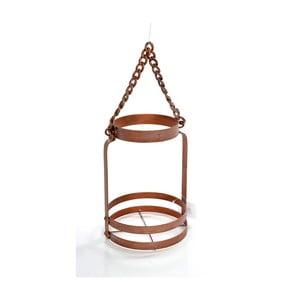 Metalowy lampion Copper, 15x15x24 cm