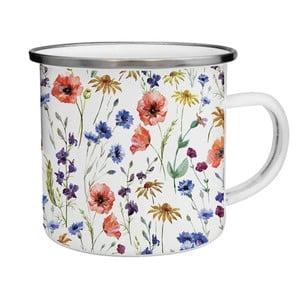 Kubek emaliowany w polne kwiaty TinMan, 200 ml