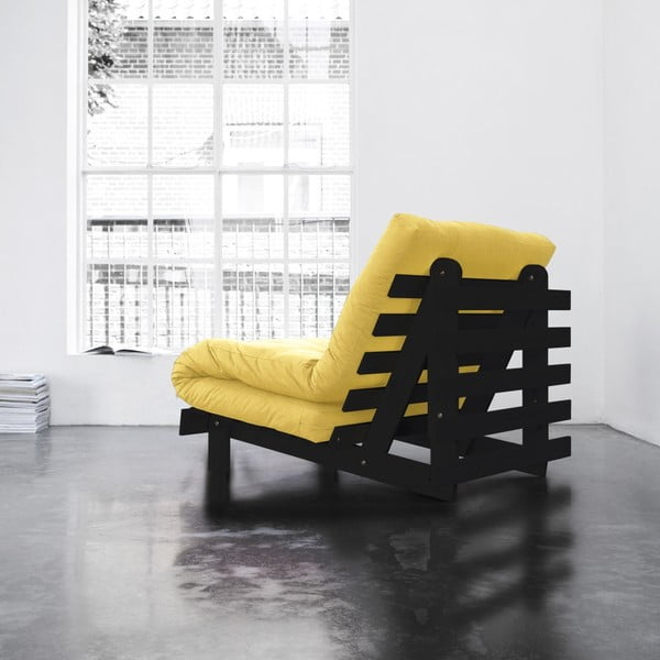 Fotel rozkładany Karup Roots Wenge/Amarillo