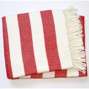 Czerwono-biały koc Euromant Candy, 140x180 cm