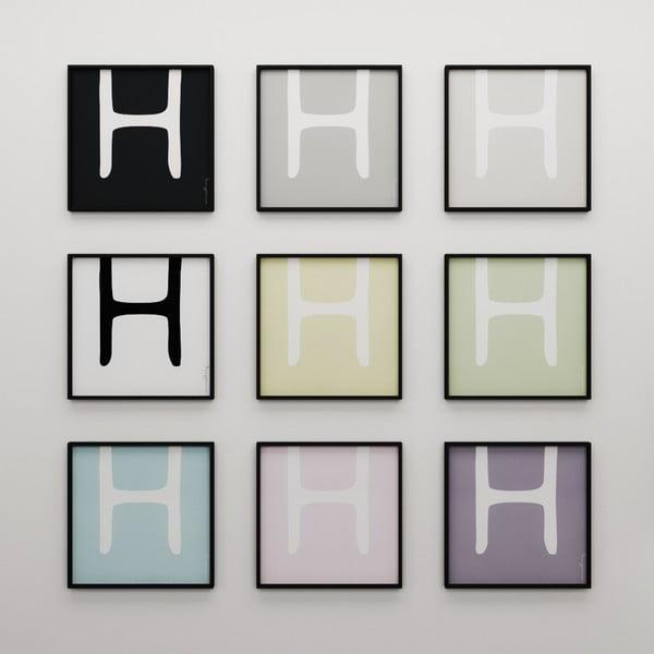 Plakat Litera H, 50x50 cm