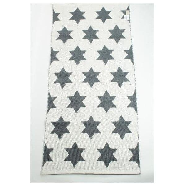 Dwustronny dywan Grey Stars, 135x65 cm