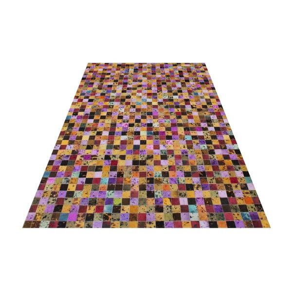 Dywan ze skóry naturalnej Sao Paulo Multi, 70x140 cm