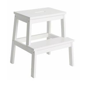Biały stołek/schodki z drewna dębowego Rowico Nanna