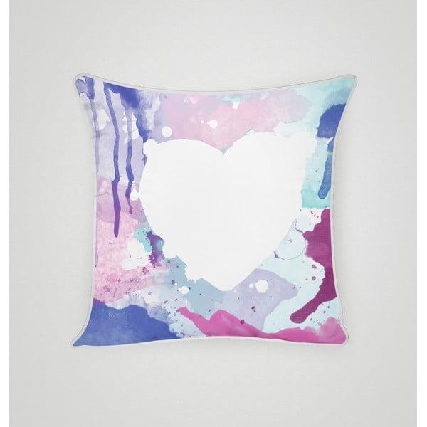 Poszewka na poduszkę Blue Heart I, 45x45 cm