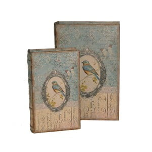 Zestaw 2 pudełek Antic Line Bird Book
