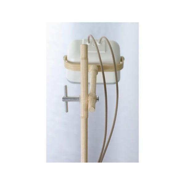 Lampa stołowa Mob Wood, biała