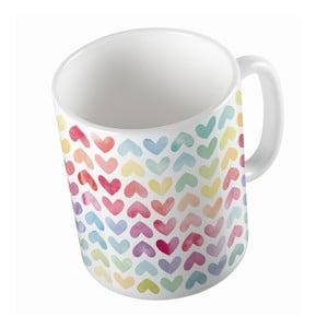 Ceramiczny kubek Butter Kings Rainbow Hearts, 330 ml