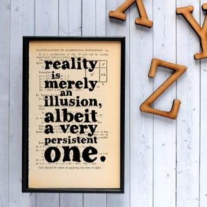 Plakat w   drewnianej ramie Einstein Reality