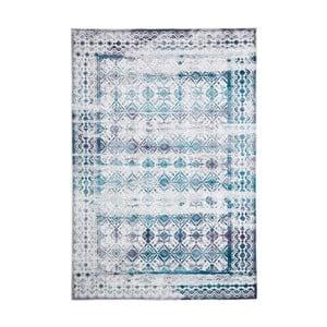 Dywan plamoodporny Floorita Kilim Ivory Aqua, 80x150 cm