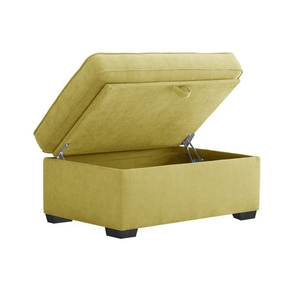 Żółty trzyczęściowy komplet wypoczynkowy Jalouse Maison Serena