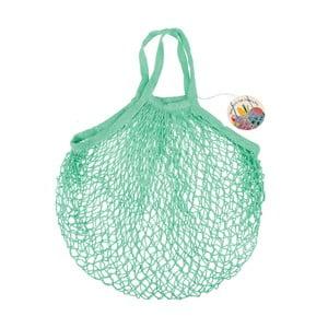 Zielona sznurkowa siatka na zakupy Rex London French