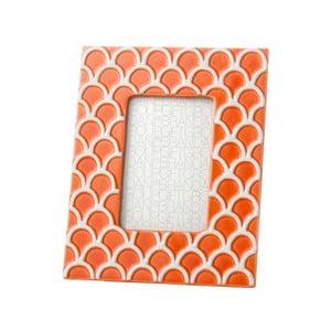 Pomarańczowa ramka na zdjęcia Brandani