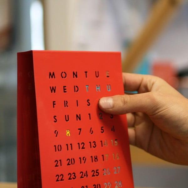 Magnetyczny kalendarz na stół Perpetual Calendar, czerwony