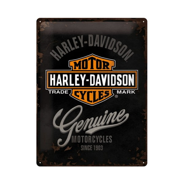 Blaszana tabliczka Harley Motorcycles, 30x40 cm