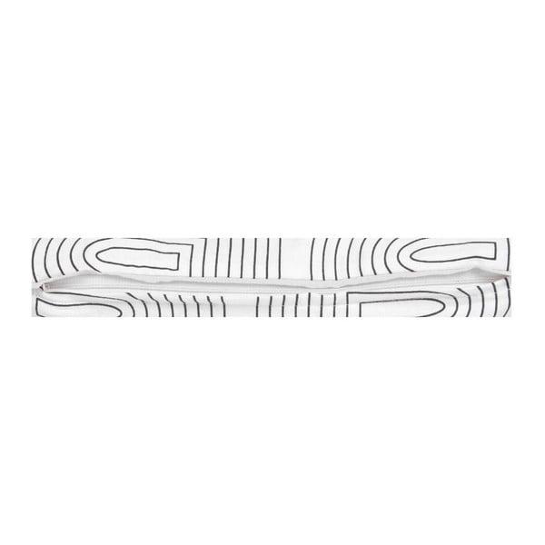 Biała poduszka ETH Retro, 50x30cm