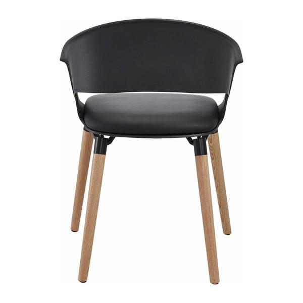 Zestaw 2 czarnych krzeseł Støraa Alto
