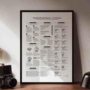 Plakat Espresso Black/White, 50x70 cm