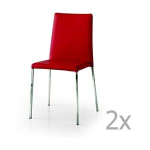 Zestaw 2 czerwonych krzeseł Castagnetti Laer