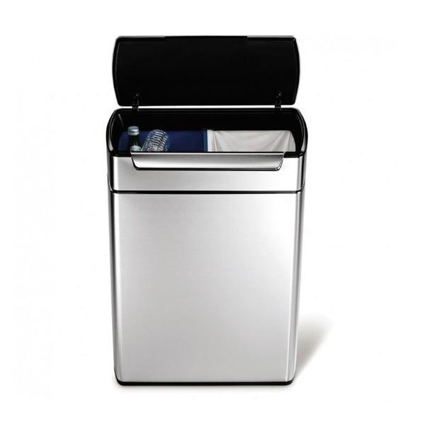 Dotykowy kosz do segregacji śmieci simplehuman 24/24 l