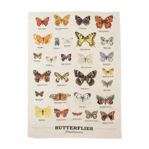 Ścierka bawełniana Gift Republic Multi Butterflies, 50 x 70 cm