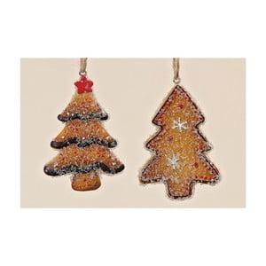 Zestaw 2 wiszących dekoracji Christmas Tree