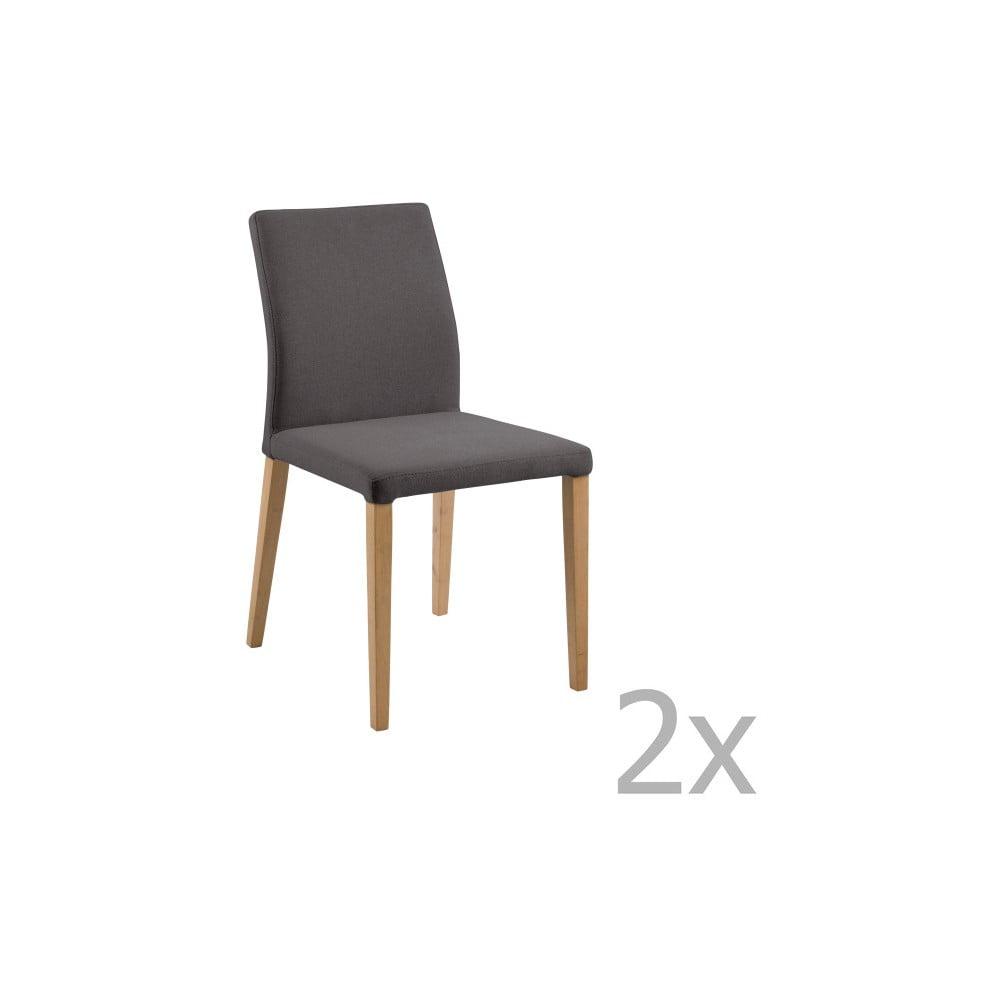 Zestaw 2 ciemnoszarych krzeseł Actona Zina Dining Set
